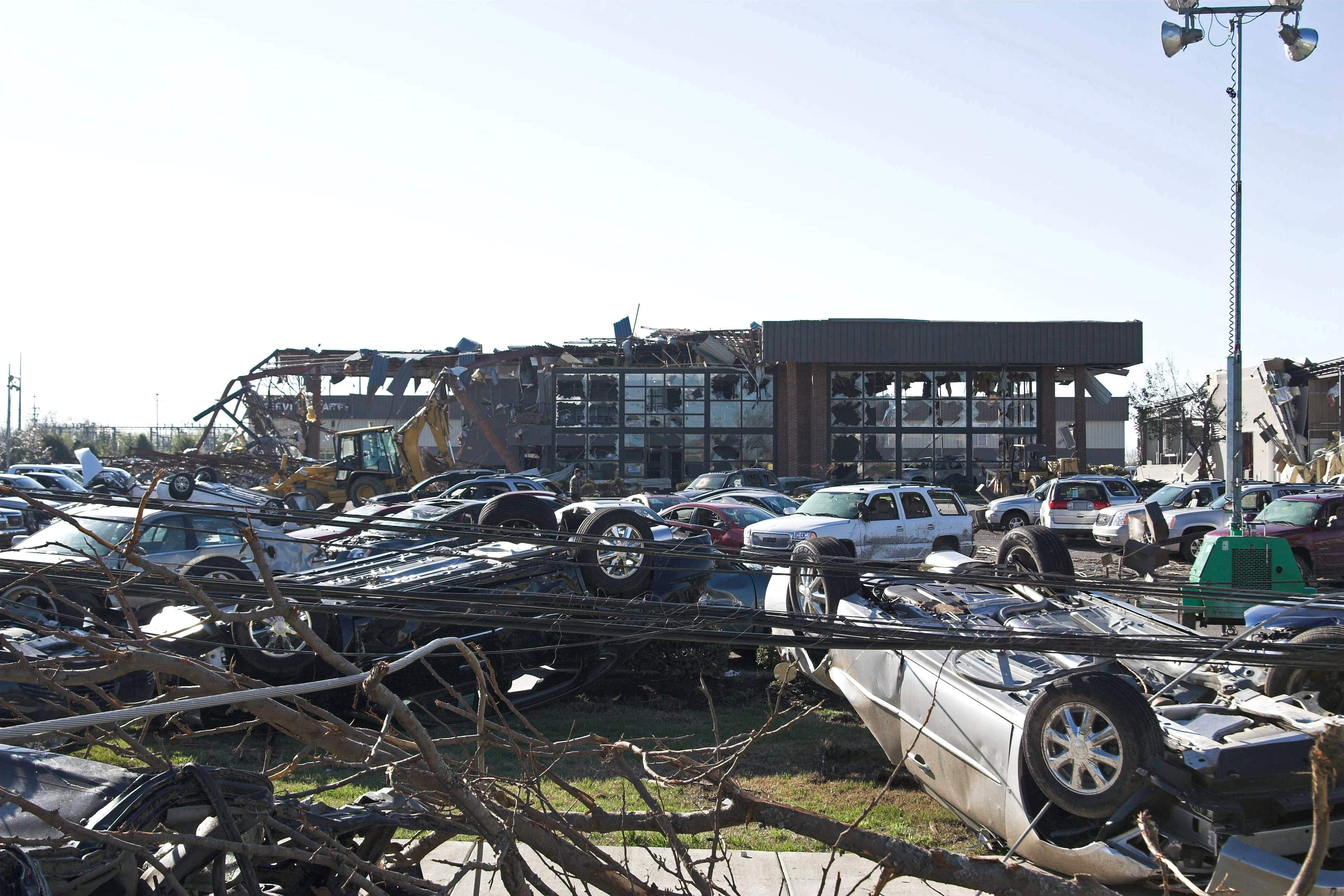 Wind and Flood damaged dealership