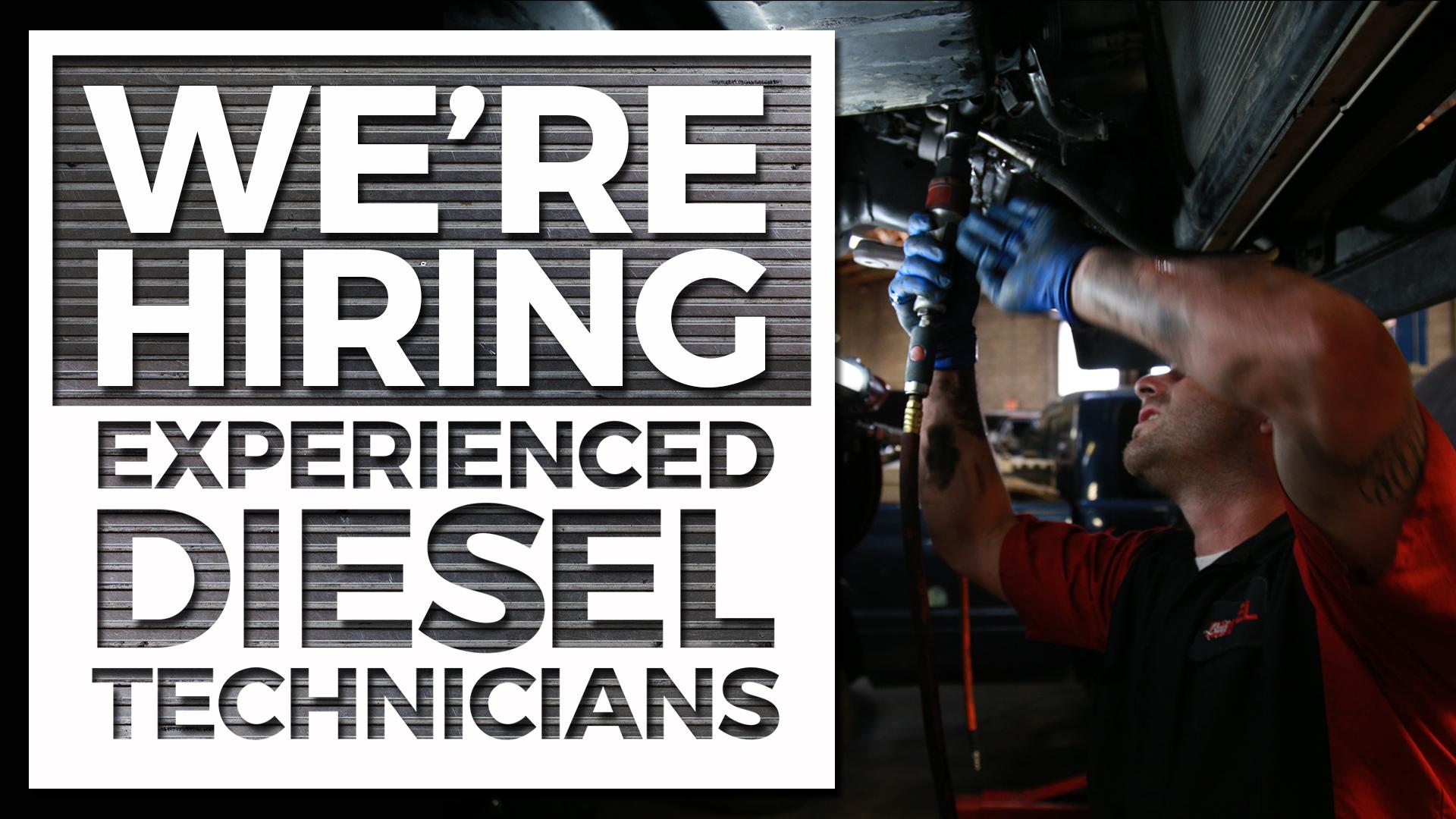 We Re Hiring Bud S Diesel